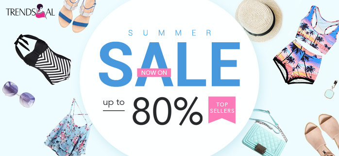 Grab amazing discounts with trendsgal's summer sale! Shop everything you want at our big sale and keep cool this summer! Don't miss out!