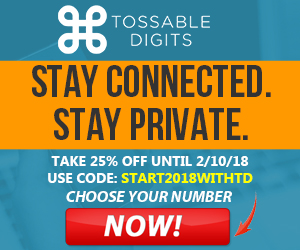 25% Off your first month of Tossable Digits