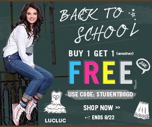 "Buy 1 get 1 free for ""back to school"" !"