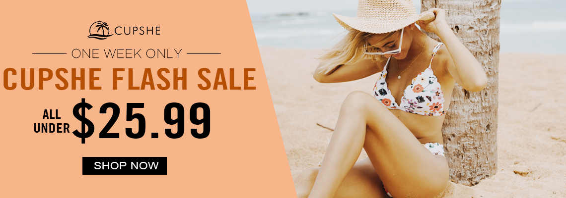 Cupshe Flash Sale! All Under $25.99! One Week Only! Shop Now!