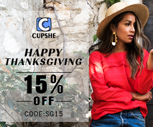 Happy Thanksgiving! 15% OFF Code:SG15! Free Shipping!