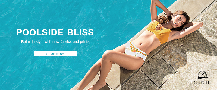 Poolside Bliss! Relax In Style With New Fabrics & Prints!Shop Now!