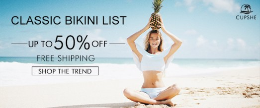 Classic Bikini List! Up to 50% Off! Free Shipping! Shop The Trend!