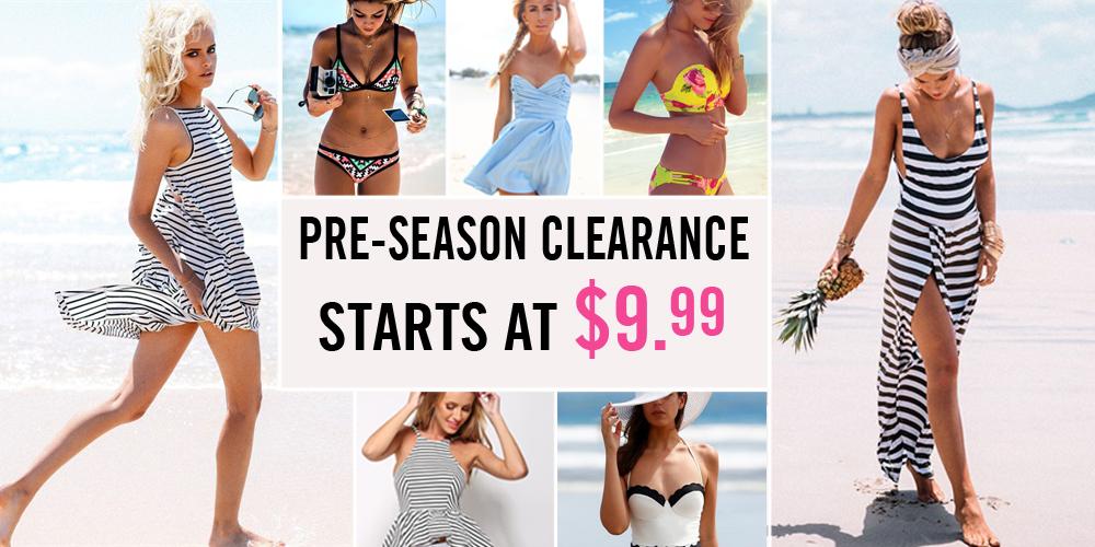Pre-Season Clearance Starts at $9.99