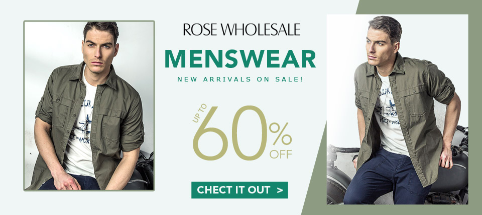 Menswear, New Arrivals On Sale: Up to 60% OFF, Don't Miss it and Shop Now!