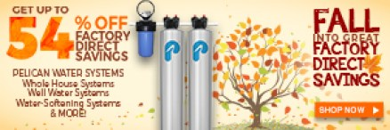 Save over 54% off factory direct Pricing - Take 7.5% Off Whole House Water Systems! Plus 20% Off Drinking & Shower Filters at www.pelicanwater.com. No Code Needed. (9/16-9/27)