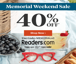 Memorial Day Weekend Sale at Readers.com