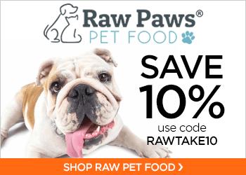 Save 10% On Raw Pet Food with code RAWTAKE10 at RawPawsPetFood.com