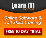 Learn It! Anytime - Online software & soft skills training. Free 10 day trial.