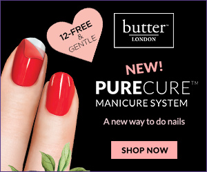 New at butter LONDON, PureCure™ Manicure System! Re-imagine a new way to do an at-home manicure. Bonus Gift on all orders $50+ and Free Shipping. Shop now and Save!