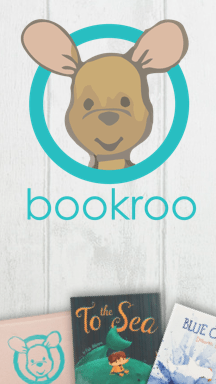 Picture the Bookroo logo and two children's picture books that we have shipped to customers in the past.