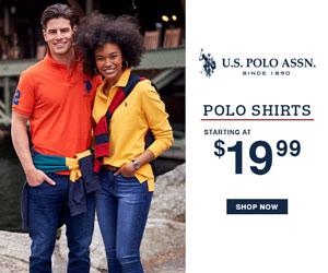 Polo Shirts Starting at $19.99