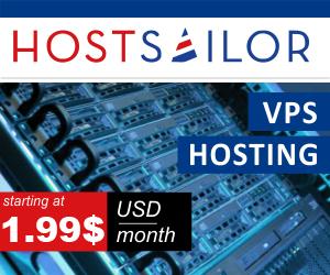 HostSailor VPS Plans Starting At 1.99$