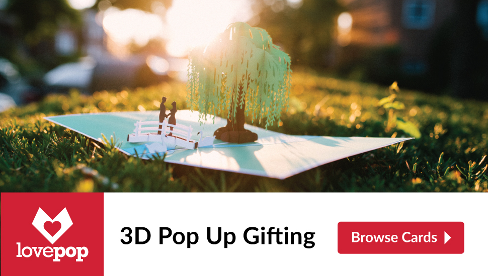 Get your loved ones incredible 3D Pop Up Cards