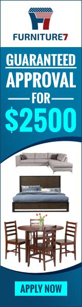 Furniture on credit, finance, lease