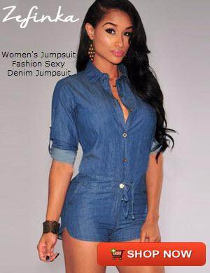 Women's Jumpsuit Fashion Sexy Denim Jumpsuit
