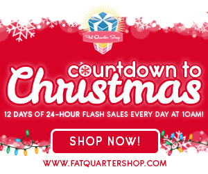 Fat Quarter Shop Countdown to Christmas Quilting Sale