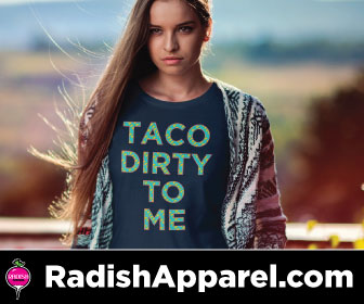 Funny, nerdy, pop culture shirt from Radish Apparel.