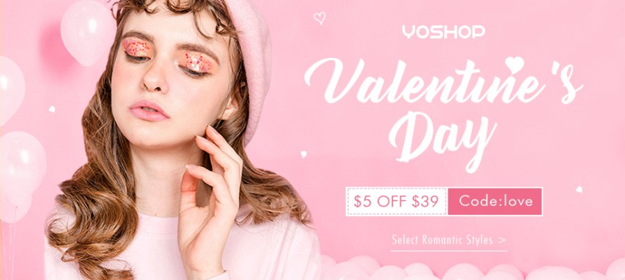 """Come and have a look at what we have prepared for your perfect dating! Enjoy $5 OFF $39+ with coupon """"love"""". Shop for your wonderful day now!"""