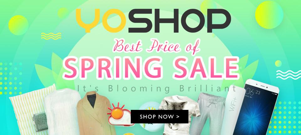 """Let's dive in Yoshop's spring big sale! Enjoy $6 OFF $50+ with coupon """"spg6"""", $12 OFF $80+ with coupon """"spg12"""", $20 OFF $100+ with coupon """"spg20"""". Shop now!"""