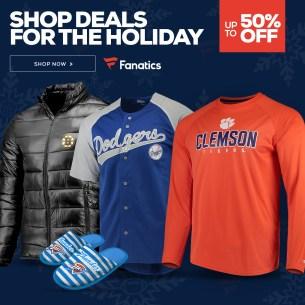 Shop holiday steals on Fanatics!