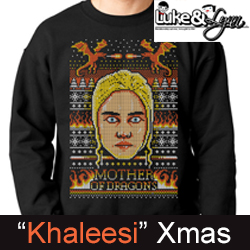 "Khaleesi ""Mother of Dragons"" Ugly Xmas Unisex (Men/Women) Sweater by Luke&Lynn Clothing"