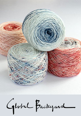 Indigo & Coral Hand Dyed Yarn Collection