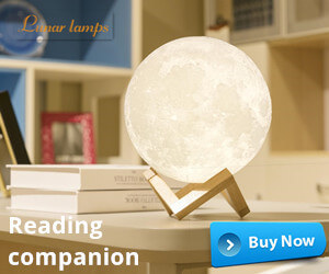 Reading companion with the moon
