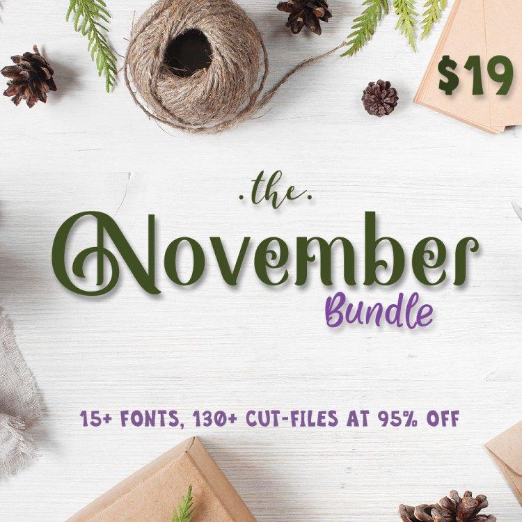 The November Bundle, only at CraftBundles.com