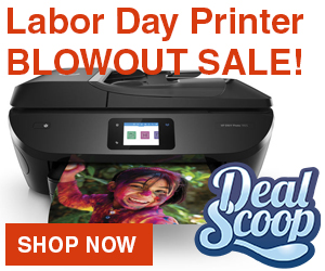 Labor Day HP Printer Blowout sale.
