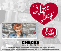 Check out the new, vintage I Love Lucy designs at Checks Unlimited