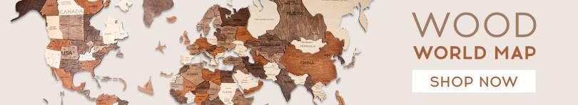 Wall Art Decot World Map