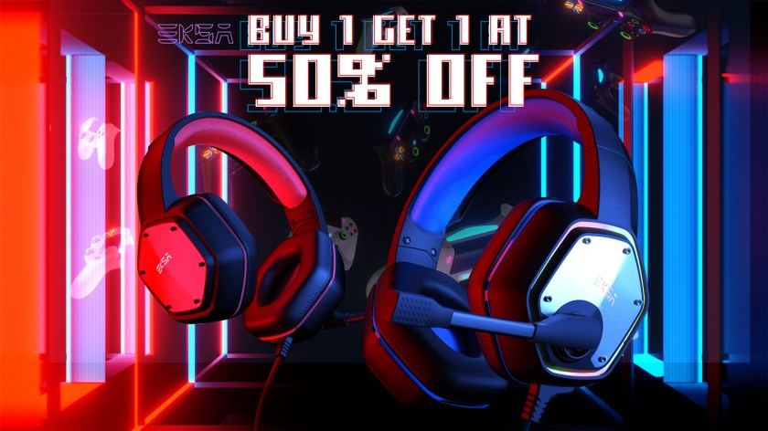 Buy any headset, get another at 50% off!