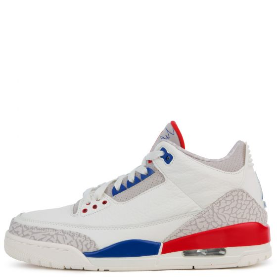 MEN'S AIR JORDAN 3 RETRO SAIL/SPORT ROYAL/LIGHT BONE/FIRE RED