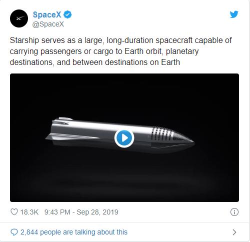 SpaceX Starship roketi