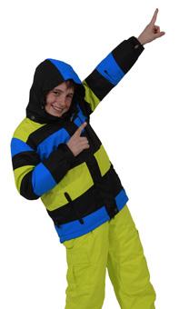XTM Kids Waterproof Ski / Snowboard Pants (Citron Green ...