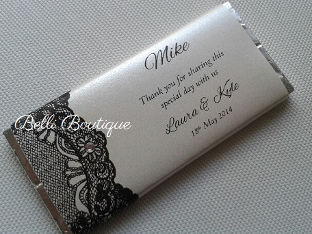 Chocolate Bar Wrapper Lace Flower