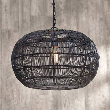 Round Iron Wire Pendant   Chalk It Up Round Iron Wire Pendant SHIPS FREE