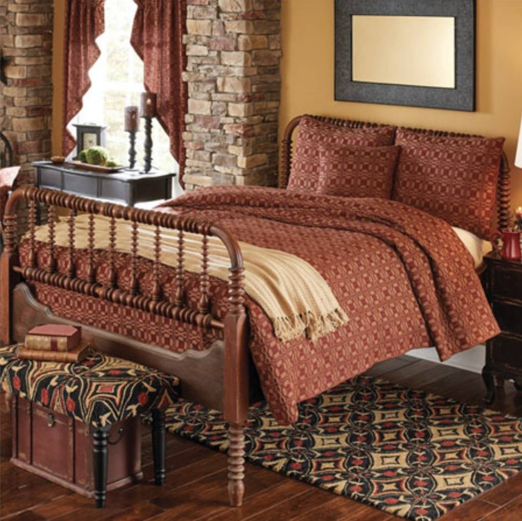 Campbell Coverlet Bedding Country Primitive Bedding