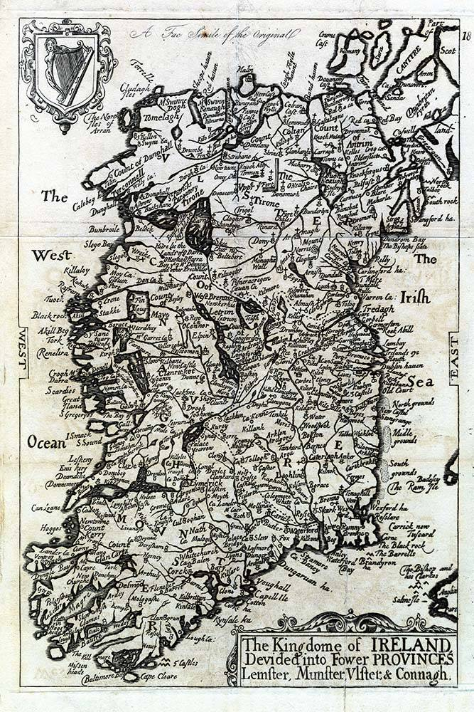 Antique Map of the Kingdom Of Ireland   The Picturalist Print on Paper US250   Antique Map of the Kingdom Of Ireland