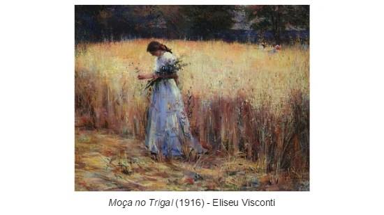 Moça no Trigal - Eliseu Visconti - Impressionismo