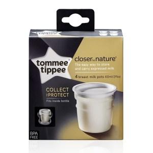 Tommee Tippe - 4 Copos Armazenamento de Leite 60 ml