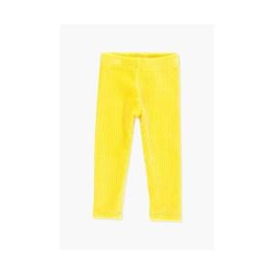 Bóboli - Leggins Veludo Bebé Menina - Amarelo