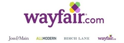 Wayfair logo and link