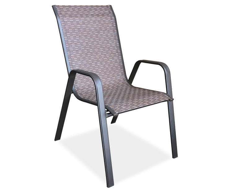 $12 Wilson and Fisher Ashford Brown Sling Patio Chair at ... on Outdoor Sectional Big Lots id=36405