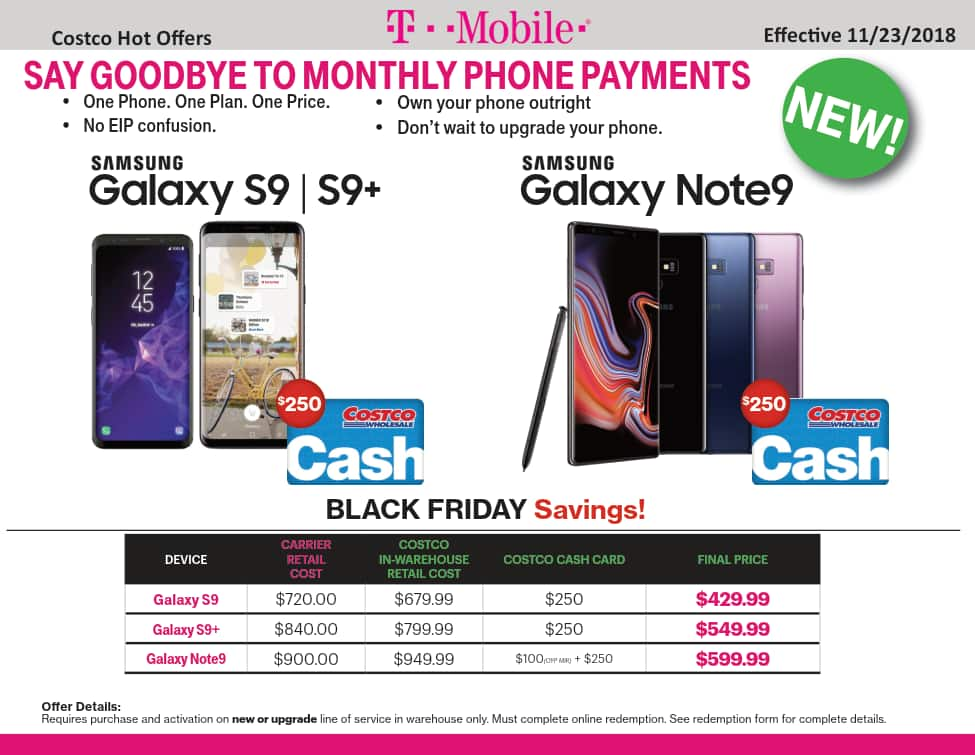COSTCO - New or Existing T-Mobile Customers - $250 Costco ... on Costco Phone Deals id=73077