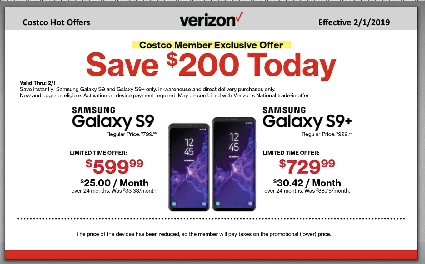 COSTCO - New or Existing Verizon Customers - $200 Instant ... on Costco Phone Deals id=27423