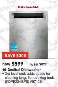 Lowes Black Friday KitchenAid 46 Decibel Dishwasher