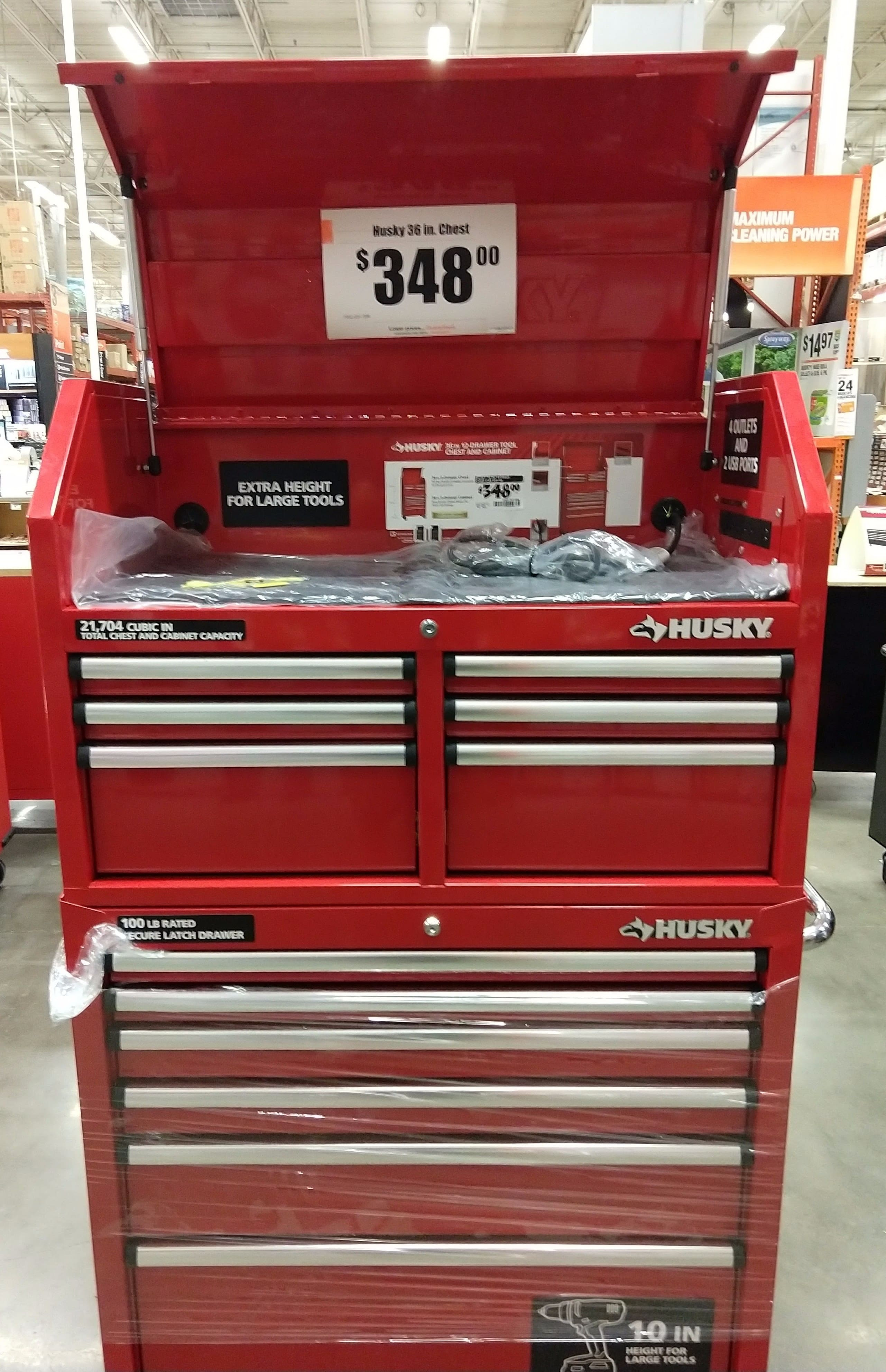 Home Depot B M Husky 36 In 12 Drawer Tool Chest Cabinet