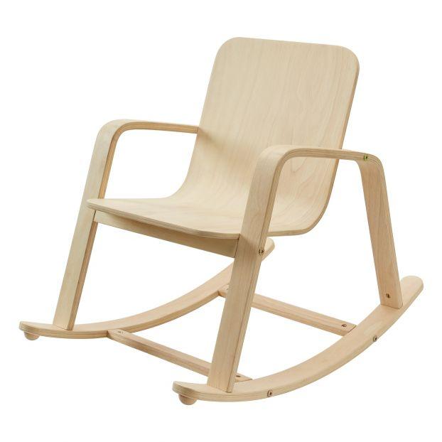 fauteuil a bascule bois clair